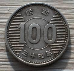Япония 100 йен 1959 года Серебро