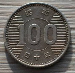 Япония 100 йен 1965 года Серебро