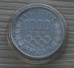 Япония 1000 йен 1964 года Серебро
