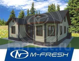 M-fresh Organic (Проект 1-этажного дома с 4 комнатами). 100-200 кв. м., 1 этаж, 4 комнаты, дерево