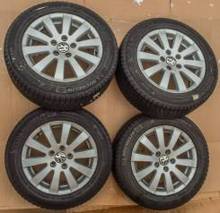 """Borbet оригиналы Volkswagen на зимних шинах. 7.0x16"""" 5x112.00 ET45 ЦО 57,1мм."""