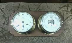 Продам часы корабельные (яхтенные) с метеостанцией. Оригинал