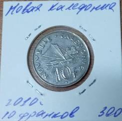 Новая Каледония 10 франков 2010 года