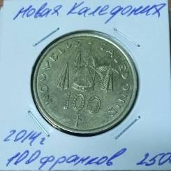 Новая Каледония 100 франков 2014 года