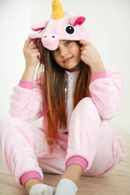 Пижама комбинезон Кигуруми Розовый Единорог - Детская одежда во ... b75da0b72665f