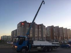 Услуги грузоперевозок. 3т кран, грузоподьемность 10 т.