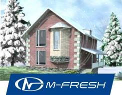 M-fresh Safety (Проект дома с цоколем и мансардой! ). 200-300 кв. м., 1 этаж, 5 комнат, бетон