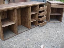 Плотник мастерская. Изготовление торговоий мебели из массива дерева.
