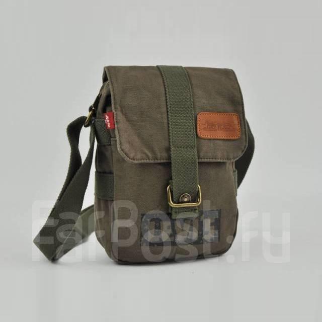 396bd5cf99da Мужская текстильная сумка Levi's через плечо, цвет зеленый ...
