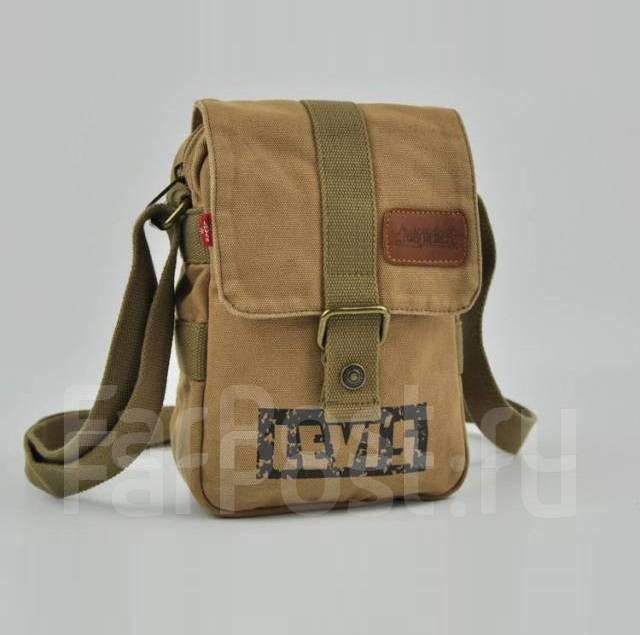 17a27bb01e12 Мужская текстильная сумка Levi's через плечо, цвет песочный ...