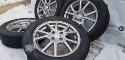 """Стильные диски """"T. R. G"""" на отличной зиме 185/60R15 Dunlop. БП по РФ. 5.5x15"""" 4x100.00 ET50"""