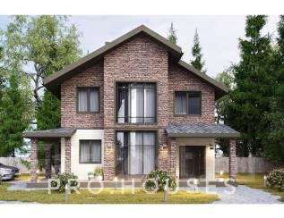 Проект Двухэтажного дома (газоблок, тереховский блок). 100-200 кв. м., 2 этажа, 4 комнаты, комбинированный