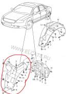 Подкрылок. Audi A8, 4E2, 4E8 Audi S8, 4E2, 4E8 Двигатели: ASB, ASE, ASN, BBJ, BDX, BFL, BFM, BGK, BGN, BHT, BMC, BNG, BPK, BSB, BSM, BTE, BVJ, BVN
