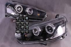 Фара левая+правая (комплект) Mitsubishi Lancer x тюнинг линзованная