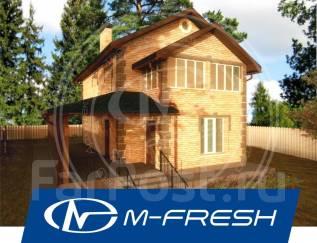 M-fresh November (Проект деревянного дома с навесным фасадом! ). 100-200 кв. м., 2 этажа, 4 комнаты, дерево