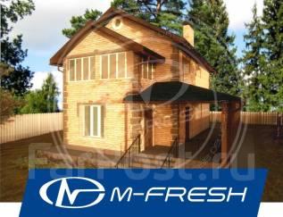 M-fresh November-зеркальный (Проект дома из бруса толщиной 150 мм! ). 100-200 кв. м., 2 этажа, 4 комнаты, дерево