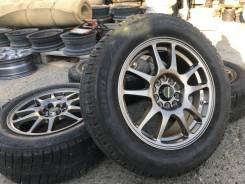 "A-Tech Schneider R15 5*100/114.3 6.5j + 195/65R15 Bridgestone Revo2. 6.5x15"" 5x100.00, 5x114.30"