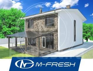 M-fresh Born free-зеркальный (Прозрачный козырёк над террасой! ). 200-300 кв. м., 2 этажа, 5 комнат, бетон