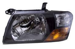 Фара Mitsubishi Pajero 99-03 черная