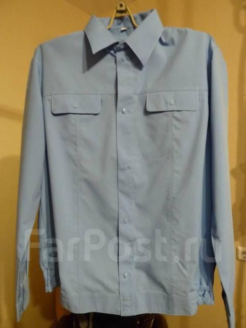 43227b00e76 Рубашки мужские форменные голубые длинный рукав - Основная одежда в ...
