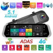 "Зеркало-видео регистратор 10"" DVR HD 901 Android /BT/4G/GPS"