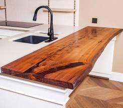 Изготовление столешниц и подоконников из натурального дерева, массива.