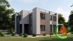 Проект коттеджа в Калининграде. 300-400 кв. м., 2 этажа, 7 комнат, кирпич