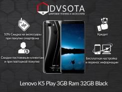 Lenovo K5 Play. Новый, 32 Гб, Черный, 3G, 4G LTE