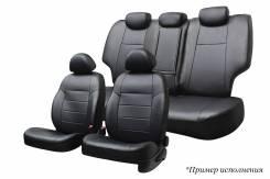 Комплект чехлов Toyota Camry (V50), 2011-н.в, раздельная спинка зад. ряда 40/60, экокожа черная/ экокожа перф. черная