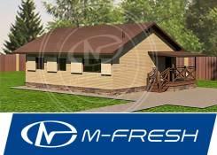 M-fresh Rancho-зеркальный (Архитектурно-строительный дома 80 м2). до 100 кв. м., 1 этаж, 4 комнаты, каркас