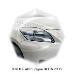 Накладка на фару. Toyota Yaris Toyota Belta, KSP92, NCP96, SCP92 Двигатели: 1KRFE, 2NZFE, 2SZFE