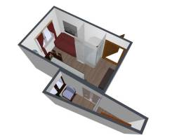 1-комнатная, улица Инессы Арманд 3. Ясенево, частное лицо, 16,8кв.м. Дизайн-проект