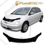 Дефлектор капота Honda Civic хэтчбэк EU1-EU4, EP3 2000-2005 (Мухобойка