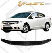 Дефлектор капота Honda Civic 4D 2012- (Мухобойка)
