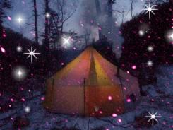 Г. Облачная (1852м) с севера с палаткой Зима