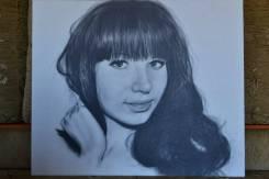 На заказ портрет по фотографии А4 чёрно белый 2000 руб. Аэрография
