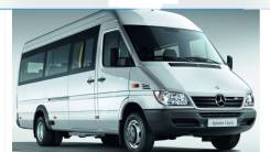 Mercedes-Benz Sprinter 411 CDI. Два автобуса с маршрутом, С маршрутом, работой