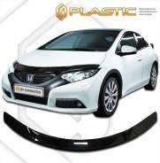 Дефлектор капота Honda Civic 5D FK 2012–н. в. (Мухобойка)