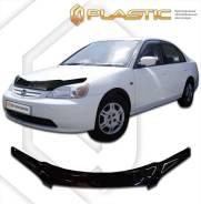 Дефлектор капота Honda Civic седан 2001-2003 (Мухобойка)
