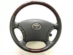 Оригинальный обод руля с косточкой красное дерево Toyota