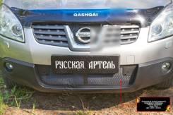 Защитная сетка решетки переднего бампера Nissan Qashqai 2006-2010. Nissan Qashqai, J10 Двигатели: HR16DE, K9K, M9R, MR20DE. Под заказ
