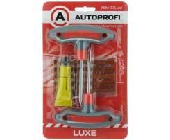 Набор для ремонта бескамерных шин luxe шило, клей, рашпиль, жгут AUTOPROFI