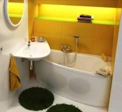 Смеситель, раковина, ванна, унитаз, инсталляция, душевая кабина. Установка