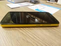Highscreen Easy F Pro. Б/у, 8 Гб, Желтый, 4G LTE