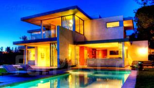 Проект дома из ячеистого бетона 7-168П. 200-300 кв. м., 2 этажа, 10 комнат, бетон