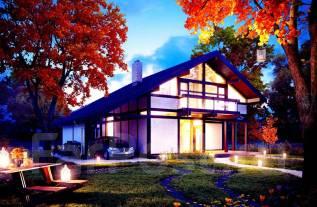 Проект дома из дерева 7-133П. 200-300 кв. м., 2 этажа, 9 комнат, дерево