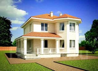Проект дома из газобетона 1-161П. 100-200 кв. м., 2 этажа, 5 комнат, бетон