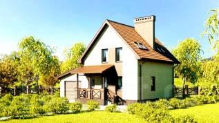 Проект дома из газобетона 9-80П. до 100 кв. м., 2 этажа, 7 комнат, бетон