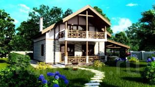 Проект каркасного дома 9-184П. 100-200 кв. м., 2 этажа, 5 комнат, каркас