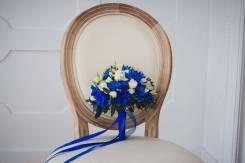 Букет невесты, свадебная флористика, оформление бокалов